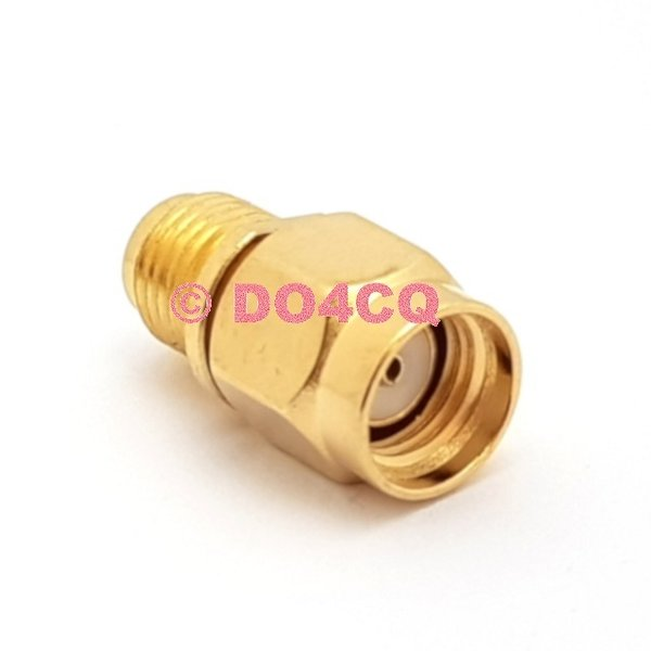 5x Spezial-Adapter RP SMA Stecker (Reverse) auf SMA Buchse (Pigtail) PTFE (J05C)